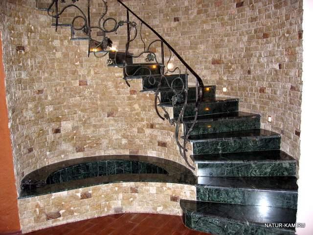 Лестницы из камня дизайн